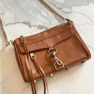 Rebecca Mincoff Mini M.A.C leather bad in Cognac
